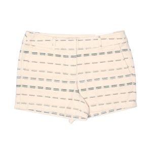 NWT LOFT Outlet Stripe Embroidered Khaki Shorts